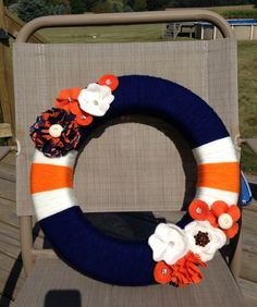 Chicago Bears Wreath, made just for me by Tina! Let's get her in business, people! lol.