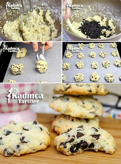 Drop Chocolate Shabby Cookie Rezept, How To . Cookie Recipes, Vegan Recipes, Köstliche Desserts, Healthy Desserts, Kinds Of Salad, Eating Plans, Nutritious Meals, Food Items, Breakfast Recipes