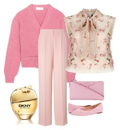 """""""Pink"""" by chauert ❤ liked on Polyvore featuring Victoria Beckham, DKNY, Needle & Thread, Sam Edelman and Givenchy"""
