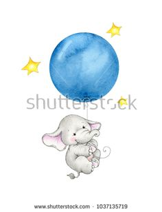 Find Baby Elephant Hanging On Blue Balloon stock images in HD and millions of other royalty-free stock photos, illustrations and vectors in the Shutterstock collection. Baby Elephant Drawing, Cute Baby Elephant, Cartoon Elephant, Elephant Art, Cute Baby Animals, Tatty Teddy, Cute Animal Drawings, Cute Drawings, Baby Elefant Tattoo