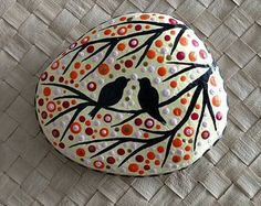 PINTADA piedra playa / arte de piedra / punto por NatureParadise