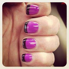 Inglesinha. Francesinha colorida. Nail, nails, polish, unhas, esmalte.