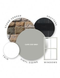Cape Cod Grey is a neutral gray siding color. Neutral grays are on-trend for And, the best part about this color? Because this siding color has neither cool or warm undertones, it will match any home decor that already exists. Exterior Gray Paint, Exterior Siding Colors, Exterior Color Schemes, House Paint Exterior, Stone On House Exterior, Exterior Paint Colors For House With Stone, Exterior Design, Stucco Colors, Building Exterior