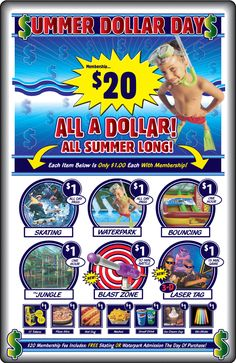 Sandy - Classic Fun Center: water park and other activities $1 with membership Summer Programs For Kids, Programming For Kids, 3 D, Battle, Thing 1, Activities, Park, Classic, Water
