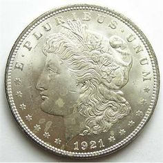 Uncirculated 1921 Morgan Silver Dollar  http://www.propertyroom.com/l/uncirculated-1921-morgan-silver-dollar-/9468159