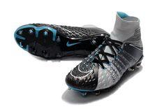 bdabec0c05 Nike Hypervenom Phantom III DF FG Cleats Grey Black Chuteiras