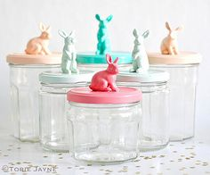 Bunny jars by toriejayne