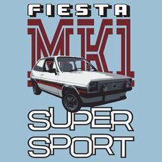 Ford Fiesta Super-Sport Classic Car T-shirts