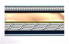 Artist Roy Lichtenstein 1923–1997 Title Entablature IV From Entablature Date 1976 Medium Screenprint and foil on paper Dimensions Image: 514 x 966 mm Collection Tate Acquisition Presented by the American Fund for the Tate Gallery 2000 Reference P78374