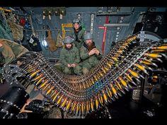 Lockheed AC-130 Gunship firing. - YouTube