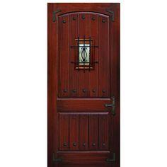 "GlassCraft 2-Panel MAH V-Groove CL/ST/SP 42""x96"" 2-Panel Mahogany Wood Grain Fiberglass Entry Door at Doors4Home.com Fiberglass Entry Doors, Wood Entry Doors, Front Doors, Front Door Makeover, Wood Grain, Natural Wood, Tall Cabinet Storage, Cool Photos, Cl"