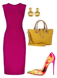 A fashion look from May 2016 featuring Roland Mouret dresses, Chloé shoulder bags and Marco Bicego earrings. Browse and shop related looks. Classy Outfits, Chic Outfits, Beautiful Outfits, Dress Outfits, Fashion Dresses, Church Fashion, Work Fashion, Fashion Looks, Fashion Beauty