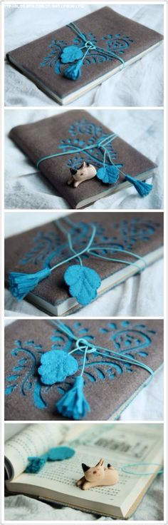 DIY book cover.. without the cat thing..: