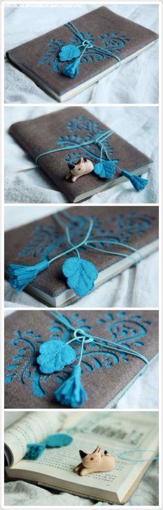 Diy craft book cover – DIY in 2020 Handmade Notebook, Diy Notebook, Handmade Journals, Handmade Books, Fabric Book Covers, Book Cover Art, Book Art, Book Crafts, Felt Crafts
