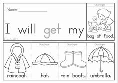 Spring Sight Word Fluency Flip Books (color and black and white). Great for developing reading fluency in beginning and struggling readers!