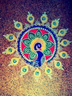 Decorate your house with colorful, beautiful & attractive happy diwali rangoli designs. We have provided best rangoli designs for deewali festival Best Rangoli Design, Rangoli Designs Diwali, Beautiful Rangoli Designs, Happy Diwali Rangoli, Happy Diwali 2019, Latest Rangoli Designs Images, Love Drawings, Art Drawings, Peacock Rangoli