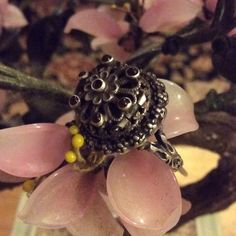 Antique sterling ruby poison ring Amazing detail marked small 6 ruby stone in great condition collectable Antique poison ring  Jewelry Rings