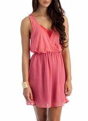 lace peekaboo dress