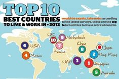 Top 10 Best Countries to Live and Work in 2012