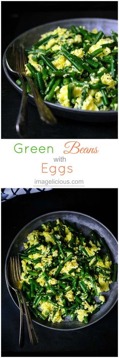 Light and easy, tasty and healthy these Green beans with eggs is a perfect recipe when you need to have dinner on the table in 15 minutes.