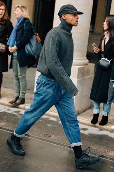 The Best Street Style from Paris Fashion Week – Men Styles Best Street Style, Cool Street Fashion, Work Fashion, Fashion Ideas, Fashion Styles, Street Styles, Men Street Look, Fashion Tips, Fashion Basics