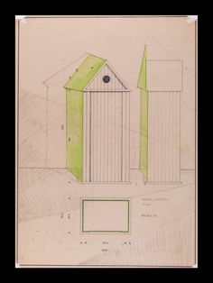 Aldo Rossi : Studio per Armadio/Cabina (1980)