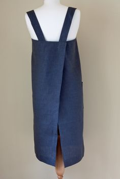 Wonderful Fog Linen Square Apron