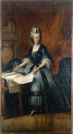 Portrait of Maria Karolina, Countess of Königsegg-Rothenfels by Andreas Brugger, oil on canvas, 1775-80.