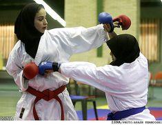 Iranian Muslim women boxing team