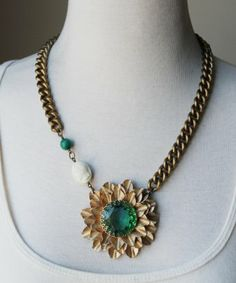Asymmetrical Pendant on a Chain {design by Sheer Addiction Jewelry}