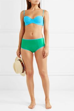 Diane von Furstenberg - Two-tone Bikini - Jade