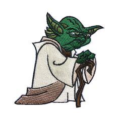 Star Wars Master Yoda Patch Embroidered Movie Iron On Sew On Patches meet you on www.Fleckenworld.com