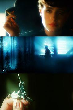 Blade Runner Ridley Scott), 1982. Cinematography by Jordan Cronenweth. (SBALLAF- Strong Back Light, Low Angle Fill)