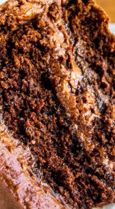 Best Chocolate Cake ~ Literally the BEST chocolate cake ever... It is dense and rich and moist and almost brownie-like but still in a cake way. It's a Magleby's copycat. You will not regret this!