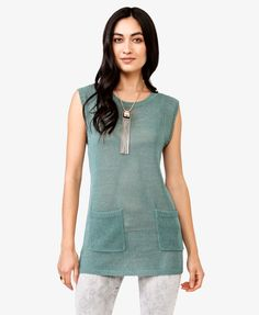 Open-Knit Tunic | LOVE21