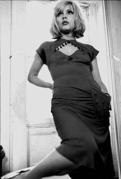 Debbie Harry (American, B. 1945)  Love the hair and dress.