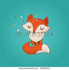 stock-vector-fox-cute-lovely-illustration-and-greetin-card-360305411.jpg (450×460)
