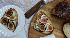 With a food as perfect as a fig, you need very little to enhance the flavor. The base is a thick slice of toasted or grilled sourdough bread, slathered with a good amount of salted butter. On top of that, there's a healthy layer of Honey Chevre, sliced figs, and a sprinkle of fresh rosemary. Simple. Delicious.