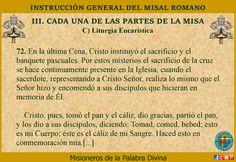 MISIONEROS DE LA PALABRA DIVINA: ESTRUCTURA DE LA MISA, SUS ELEMENTOS Y SUS PARTES