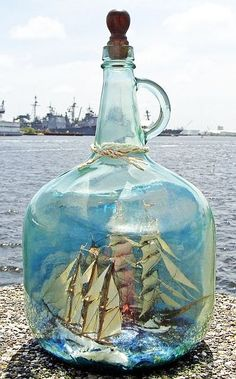Ship in a jug by Skip Jack.