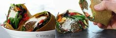 "Falafel & Hummus Wrap with Mediterranean ""Roasted"" Veggies - Raw Recipe - Good For ME!!"