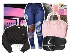 DEVASTATED by pinksemia on Polyvore featuring polyvore fashion style NIKE Givenchy clothing