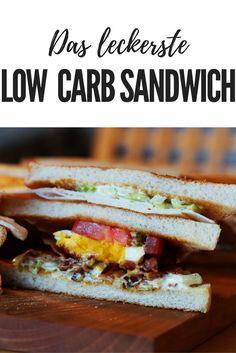 Rezept für ein leckeres low carb Sandwich. Pinne das zu deiner low carb Pinnwand.
