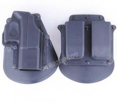 Glock17 Holster & Mag Pouch Set(Black)
