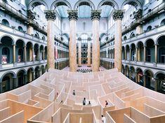 ビャルケ・インゲルスによる巨大迷路がアメリカ国立建築博物館に登場 TOKYO DESIGNERS WEEK2014 東京デザイナーズウィーク2014