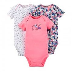 3cee7dc49abcd Just One You By Carter s 3 Pack Bodysuits Elephant Floral Bird Print 12 18  · Ropa Carters BebeRopa ...