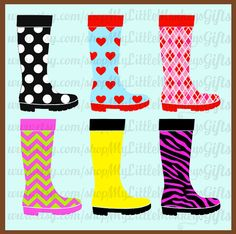Botte de pluie motifs Chevron Zebra coeurs par MyLittleMonkeysGifts Clipart, Mouille, Too Cool For School, Plein Air, Christmas Presents, Scrapbooking Ideas, Holiday Crafts, Art For Kids, Chevron