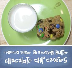 Reduced Sugar Browned Butter Chocolate Chip Cookies