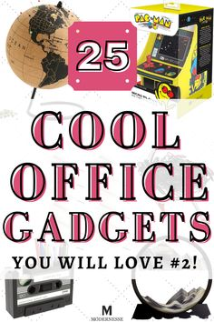 Awesome desk gadgets for work or your home office! Check out all 25 recommendations with video as well. | cool desk gadgets | cool desk accessories| cool office gadgets | gadgets technology | office accessories | office ideas | office decor | office tech gadgets | office technology gadgets | office gadgets cubicles | cubicle decor Technology Gadgets, Tech Gadgets, Cool Desk Gadgets, Cool Desk Accessories, Spinning Globe, Mini Arcade, Work Cubicle, Desk Fan