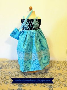 "handmade dress haven: Flutter dress redo for 18"" doll - free tutorial"